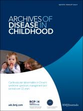 Archives of Disease in Childhood: 97 (4)