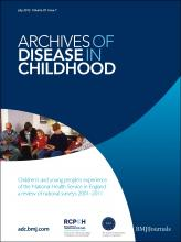 Archives of Disease in Childhood: 97 (7)
