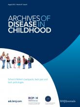 Archives of Disease in Childhood: 97 (8)