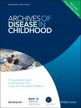 Archives of Disease in Childhood: 97 (9)
