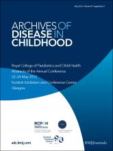 Archives of Disease in Childhood: 97 (Suppl 1)