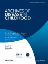Archives of Disease in Childhood: 97 (Suppl 2)
