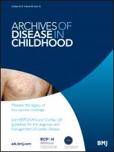 Archives of Disease in Childhood: 98 (10)
