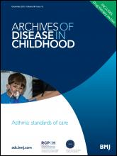 Archives of Disease in Childhood: 98 (12)