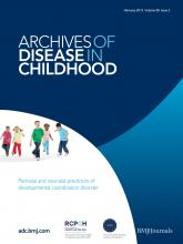 Archives of Disease in Childhood: 98 (2)