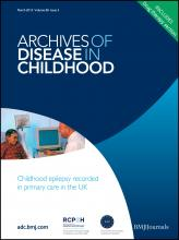 Archives of Disease in Childhood: 98 (3)