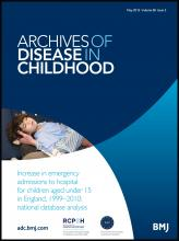 Archives of Disease in Childhood: 98 (5)