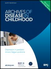 Archives of Disease in Childhood: 98 (6)