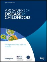 Archives of Disease in Childhood: 98 (7)