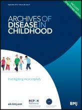 Archives of Disease in Childhood: 98 (9)