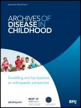Archives of Disease in Childhood: 99 (1)
