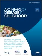 Archives of Disease in Childhood: 99 (10)