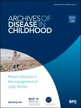 Archives of Disease in Childhood: 99 (11)