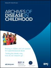 Archives of Disease in Childhood: 99 (2)