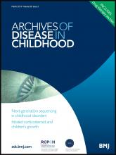 Archives of Disease in Childhood: 99 (3)