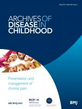 Archives of Disease in Childhood: 99 (5)