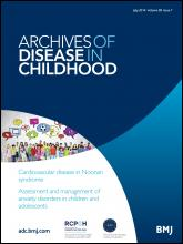 Archives of Disease in Childhood: 99 (7)