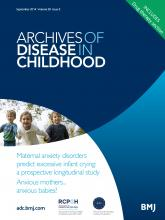 Archives of Disease in Childhood: 99 (9)