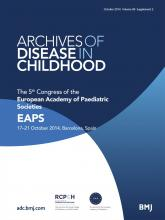 Archives of Disease in Childhood: 99 (Suppl 2)